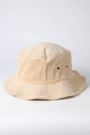 sand courduroy bucket hat