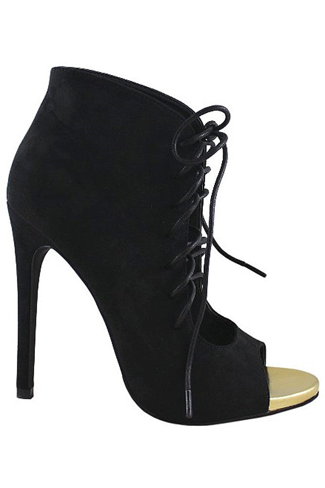 Lace Up Stiletto Booties