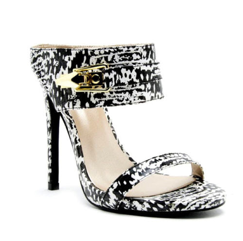 Black & White Stiletto Sandals