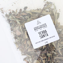 Load image into Gallery viewer, Yerba Santa Smoke Herbal Incense. Energetic Hygiene. Loose Leaf. Strong Boundaries.