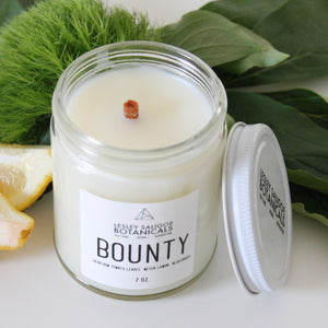BOUNTY Hand Poured Candle. Heirloom Tomato Leaves. Bluegrass. Meyer Lemon. Basil. 7 oz.