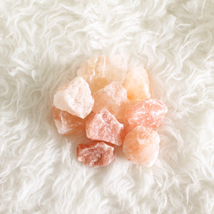 Himalayan Pink Salt Chunks. Energetic Hygiene. Purifying. Ritual Bath. Sole. Bag of Two.