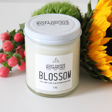 Load image into Gallery viewer, BLOSSOM Hand Poured Candle. Tiare Flower. Plum Blossom. Cacao. 7 oz.