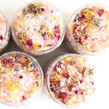 Load image into Gallery viewer, House Blend Botanical Bath Salts. Himalayan Pink Ritual Soak. Rose. Calendula. Bergamot.
