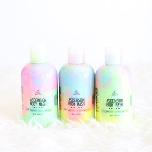 Ascension Body Wash or Lotion. Rainbow Shower Gel. Plum Raspberry Amber Peony Cotton Candy.