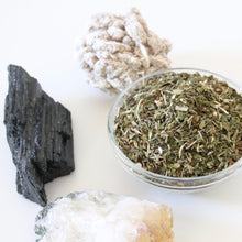 Load image into Gallery viewer, NOURISH Herbal Tea. 100% Organic. Nettle. Burdock Root. Dandelion. Spearmint.  1 ounce.