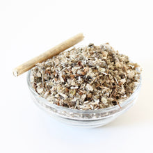 Load image into Gallery viewer, Sacred Herbal Smoke Blend or Respiratory Tea. Half Ounce. Mullein. Tulsi. Marshmallow. Damiana.