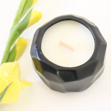 Load image into Gallery viewer, KING Hand Poured Candle. Moss. Gardenia. Wet Fern. Ocean Air. 7 oz. Matte Black Ceramic.