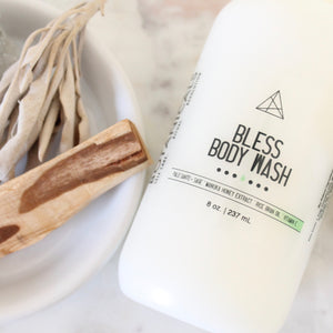BLESS Body Wash. Palo Santo + Sage Shower Gel. Liquid Soap. Bubble Bath. Hand Soap.