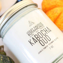 Load image into Gallery viewer, KABOCHA OUD Hand Poured Candle. Japanese Pumpkin. Allspice. Brown Sugar. Blood Orange. Oud. 7 oz.
