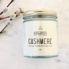 Load image into Gallery viewer, CASHMERE Hand Poured Candle. Cashmere. Musk. Lemon Zest. Fir Needle. Labdadum. 7 oz.