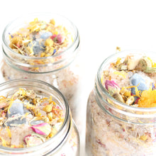 Load image into Gallery viewer, Botanical Bath Salts. Solar Return Himalayan Pink Ritual Soak. Celestite Crystal. - Lesley Saligoe Botanicals