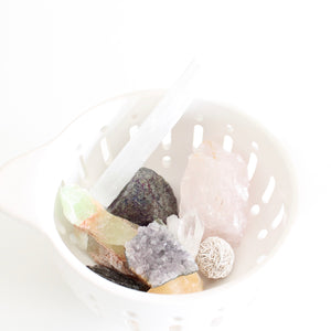 Self Care Crystal Set. Nine Curated Crystals for Joy, Love, Peace, and Abundance. - Lesley Saligoe Botanicals