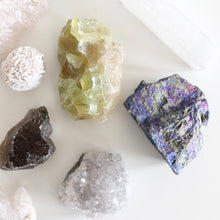 Load image into Gallery viewer, Self Care Crystal Set. Nine Curated Crystals for Joy, Love, Peace, and Abundance. - Lesley Saligoe Botanicals