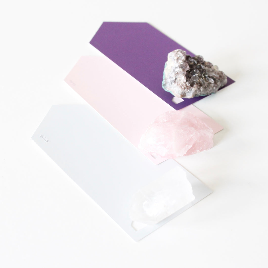Core Self Care Crystal Set. Rose Quartz. Clear Quartz. Amethyst. - Lesley Saligoe Botanicals