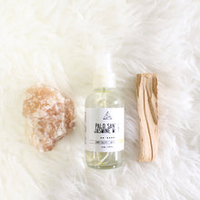 Load image into Gallery viewer, Palo Santo and Jasmine Purifying Spray. Aura + Space Cleansing Mist. Yoga Mat Spritz. - Lesley Saligoe Botanicals