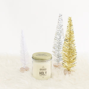 Holy Hand Poured Candle. Sandalwood Carnation Musk.