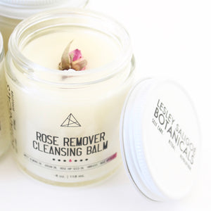 Rose Remover Cleansing Balm. Clean Beauty. Botanical Makeup Melter. Infused Oil Skin Salve.