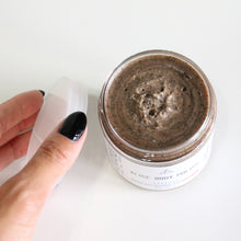Load image into Gallery viewer, Alice Foaming Coffee Scrub w Cacao Cardamom and Cane Sugar. Body Polish.