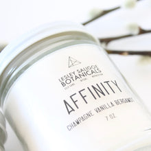 Load image into Gallery viewer, Affinity Hand Poured Candle. Joy. Playfulness. Champagne. Vanilla Bean. Bergamot.