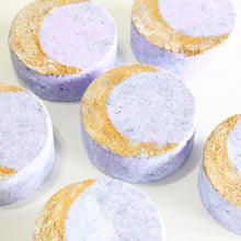 Load image into Gallery viewer, Crescent Moon Bath Bomb. Amber and Vanilla Scent.