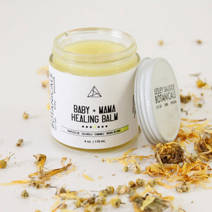 Baby and Mama Calendula Chamomile Salve. Healing Nourishing Floral Cream. Diaper Balm. Botanical Baby Care. No Essential Oils.