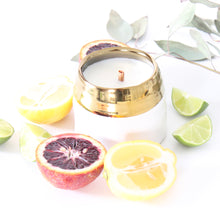 Load image into Gallery viewer, SANCTUARY Hand Poured Candle. Santal. Star Jasmine. Heirloom Leaves. Basil. 7 oz.