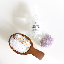 Load image into Gallery viewer, Lavender and Chamomile Ritual Bath Salts. Calming Salt Soak.