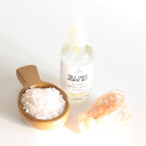 Palo Santo and Jasmine Ritual Bath Salts. Shimmering Salt Soak.