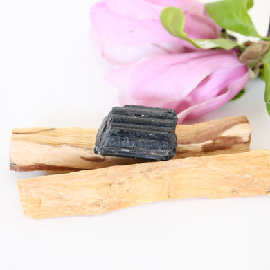Palo Santo Sticks + Black Tourmaline. Natural Incense. Holy Wood. Protection. Purification. Space + Energy Clearing.