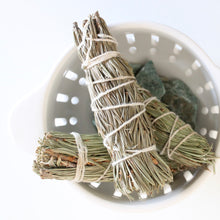 Load image into Gallery viewer, Small Pine Smoke Cleansing Wand. Natural Incense. Uplifting Energetic Hygiene.