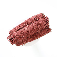 Load image into Gallery viewer, Mountain Sage and Dragon's Blood Resin Smoke Cleansing Wand. Protective Space Clearing.