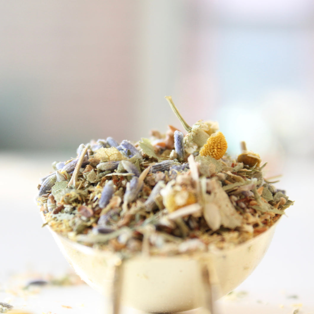 Serenity Now Herbal Tea. Anti Anxiety. Lavender. Chamomile. Linden. Catnip.