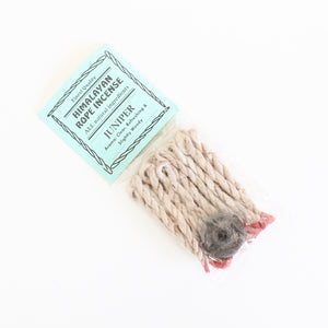 Juniper Rope Incense. Fragrant Natural Incense. Space and Energy Cleansing. One Package of 20.