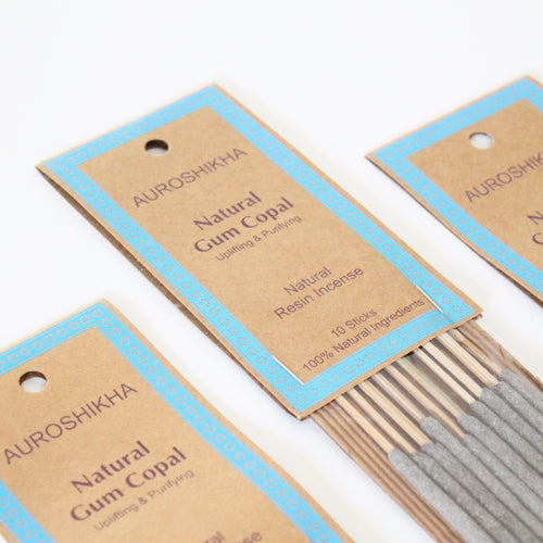 Auroshikha Incense. Natural Resin Incense. Space and Energy Cleansing. One Package of 10.