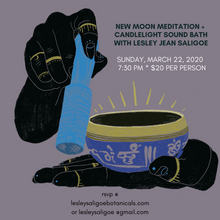 Load image into Gallery viewer, New Moon Meditation and SOUND BATH. Candlelight Healing. 1 Hour. Sunday March 22 2020. 7:30 PM
