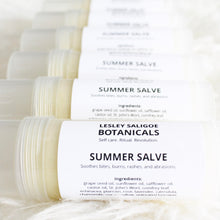 Load image into Gallery viewer, Summer Salve. All Natural Healing Balm. Herb Infused Burn, Bite, Abrasion Relief. - Lesley Saligoe Botanicals