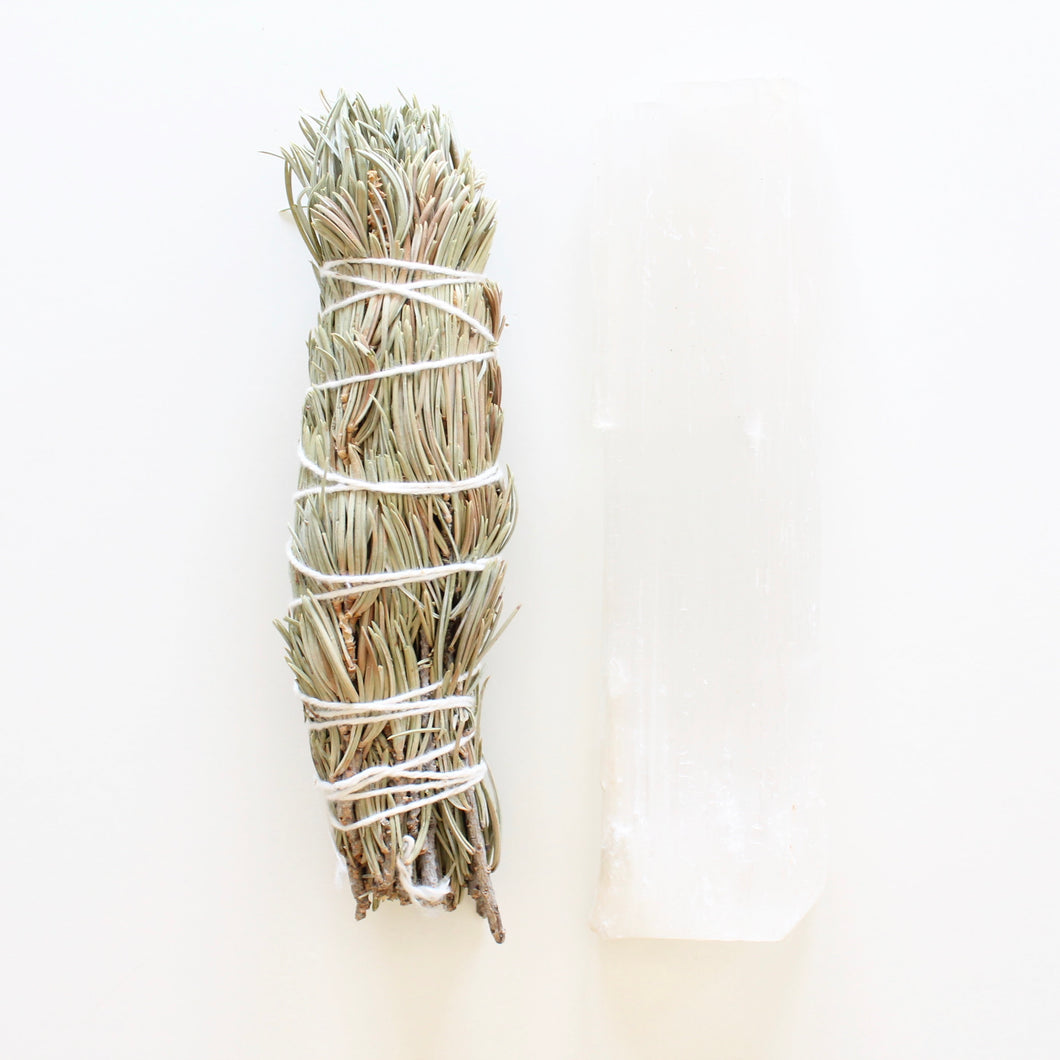 Pine Smoke Cleansing Wand. Natural Incense. Uplifting Energetic Hygiene. - Lesley Saligoe Botanicals