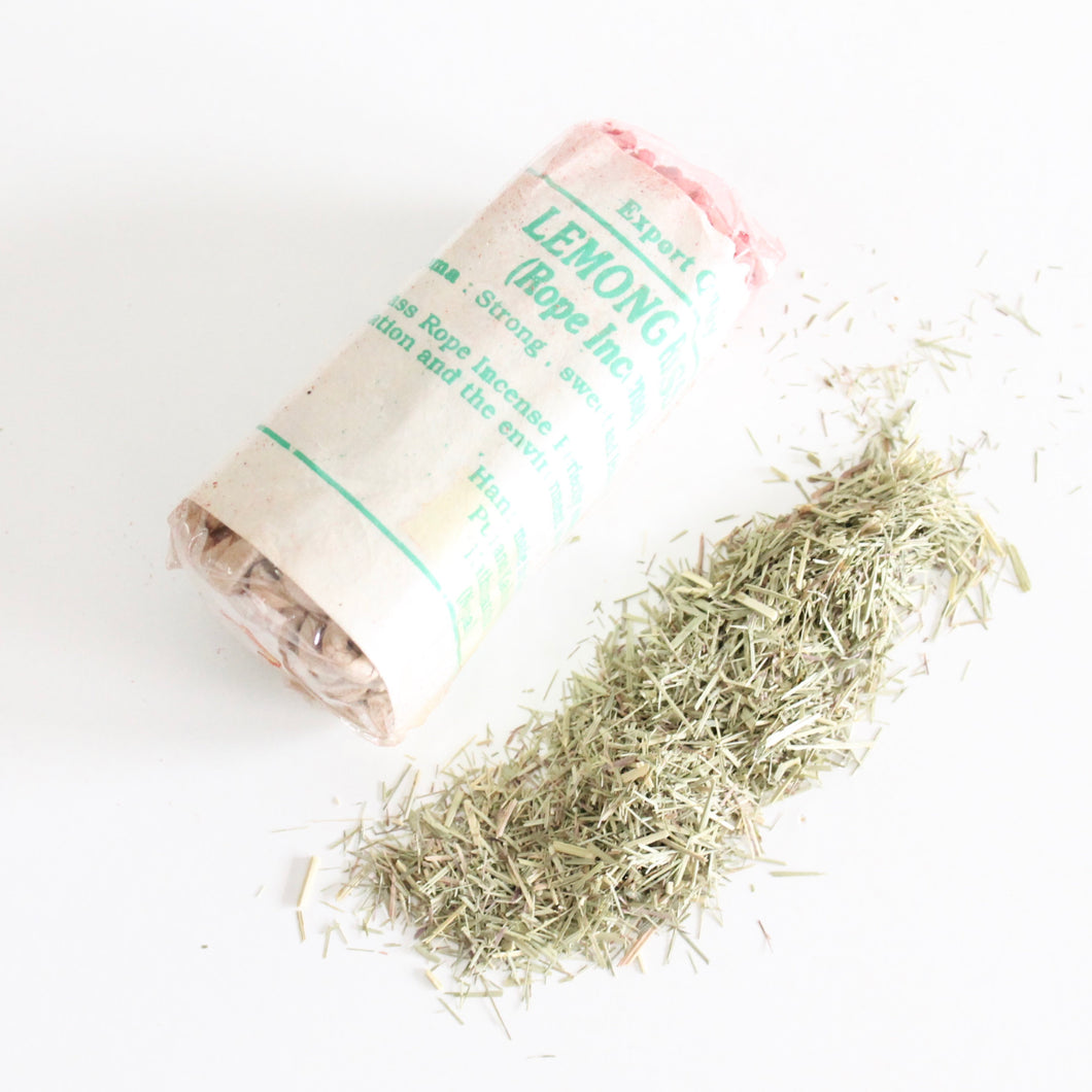 Lemongrass Rope Incense. Fragrant Natural Incense. Space and Energy Cleansing. One Package of 45. - Lesley Saligoe Botanicals