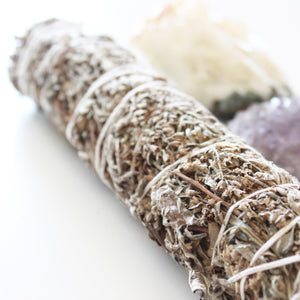 Black Sage Mugwort Smoke Cleansing Stick. Space + Energy Clearing. Large. - Lesley Saligoe Botanicals