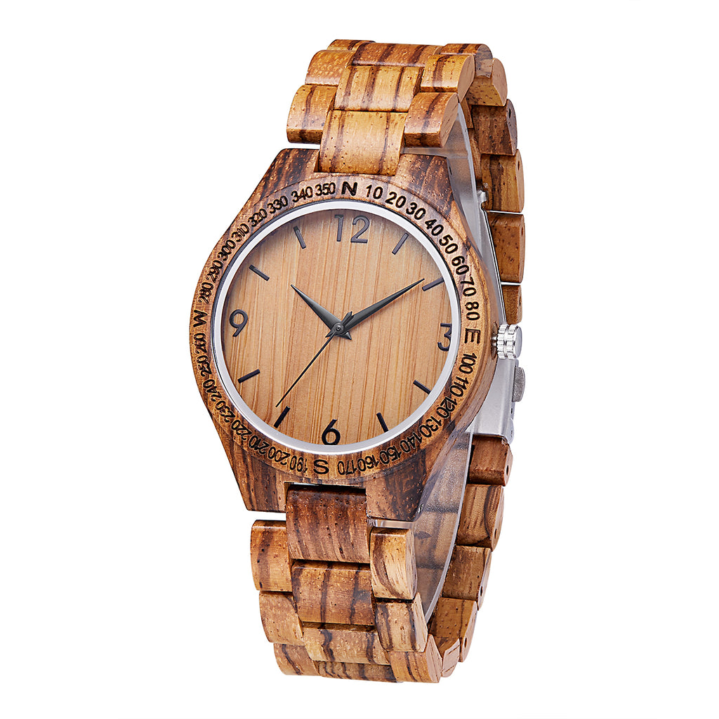Teak Wood (Quartz) Wood Band, for men