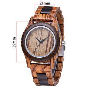 Small Size Teak and black sandal Wood mix (Quartz) Wood Band