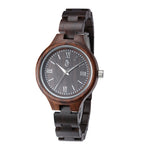 Black Sandal Wood Watch Classic (Quartz) for women