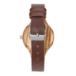 Zebra Wood with leather Strap