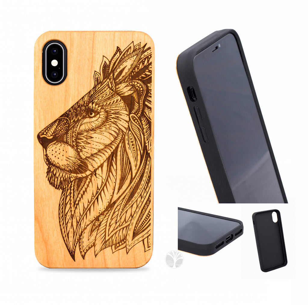 """LION"" Wood phone case"
