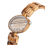 Zebra Wood Watch (Quartz) for Women