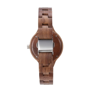 Walnut Wood Classic (Quartz) Watch For Women or Children