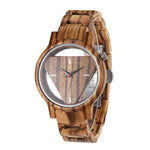 Zebra Wood Watch (Quartz) For Men