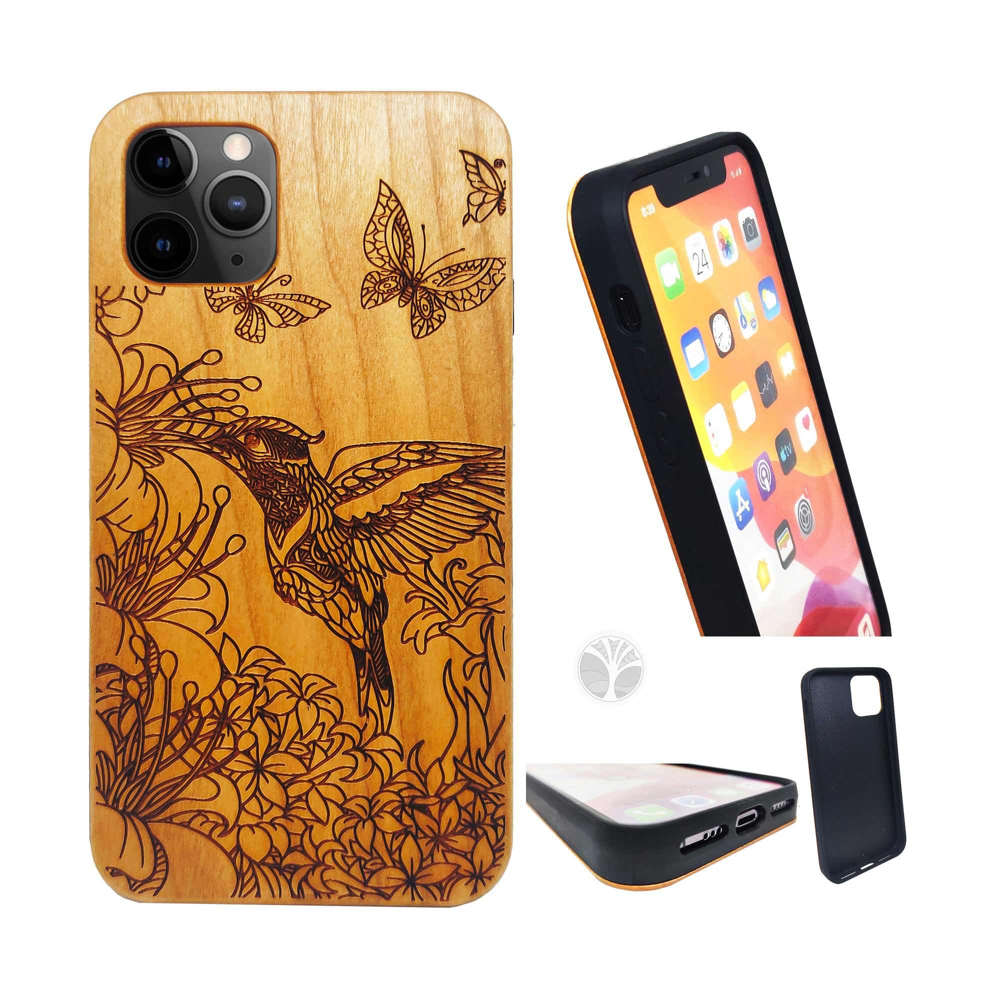 """Humming Bird"" Wood phone case"