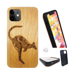 """KANGAROO"" Wood phone case"